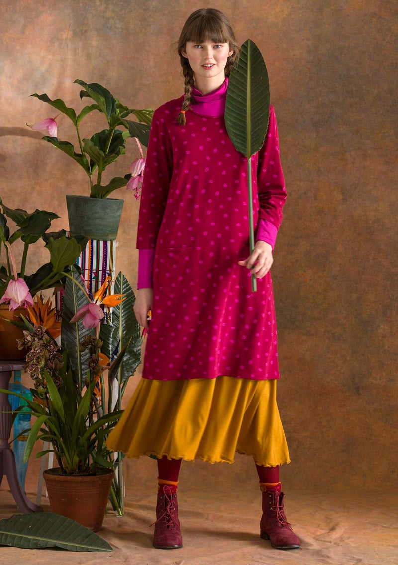 """Bean"" jersey dress made of modal/organic cotton/elastane cranberry"