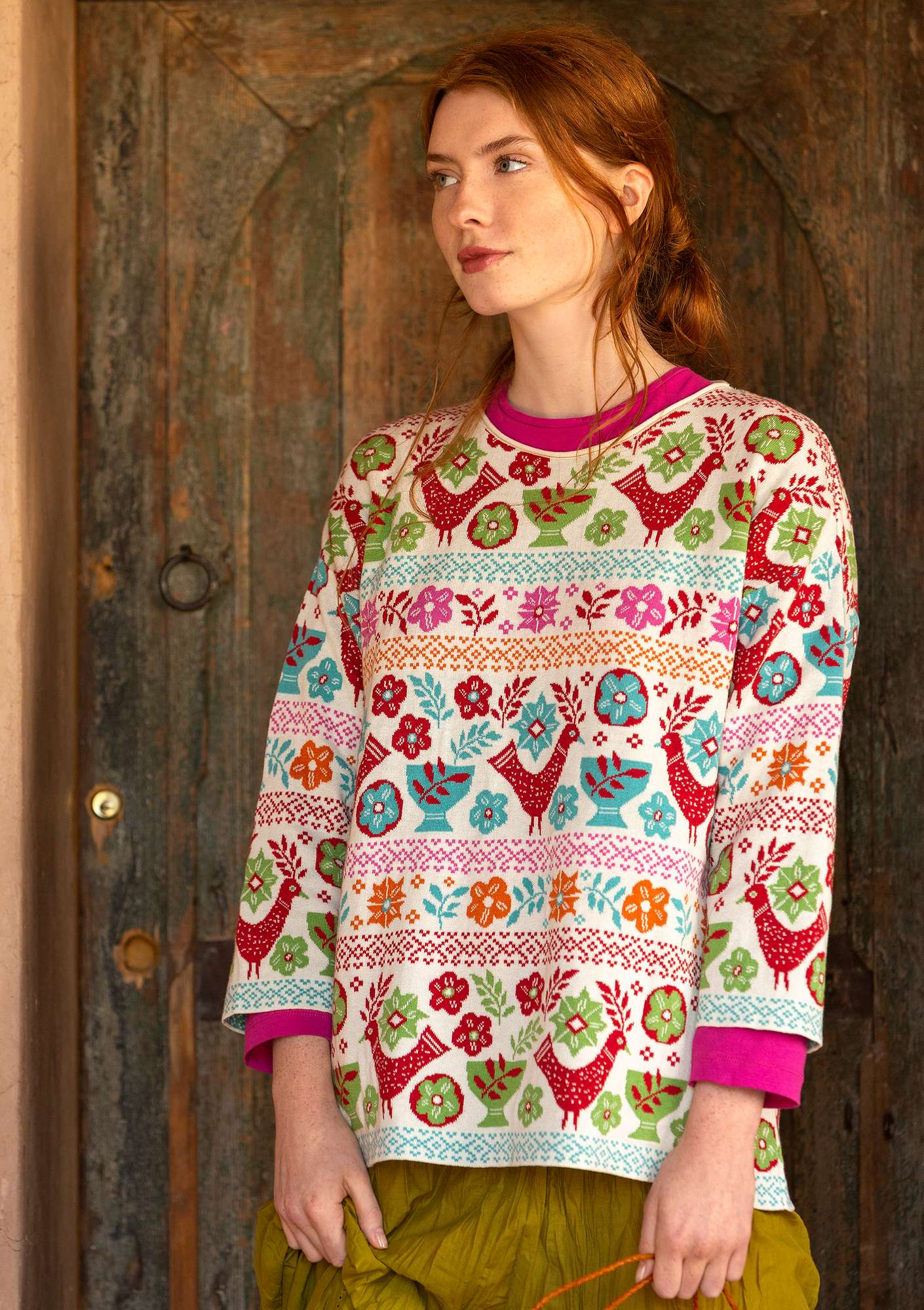 """Färila"" eco-cotton sweater multi-color"
