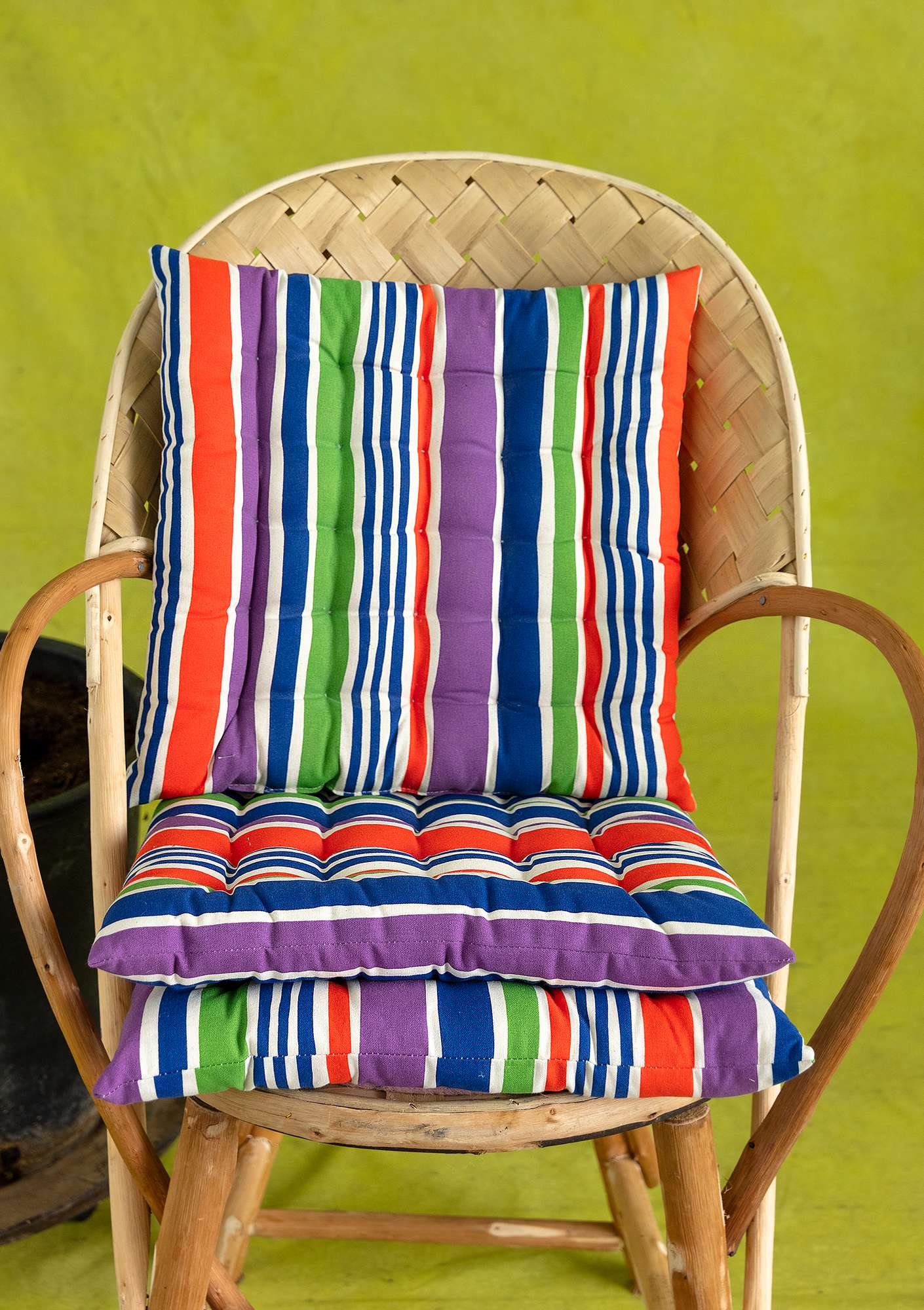 Strimma seat cushion multicoloured