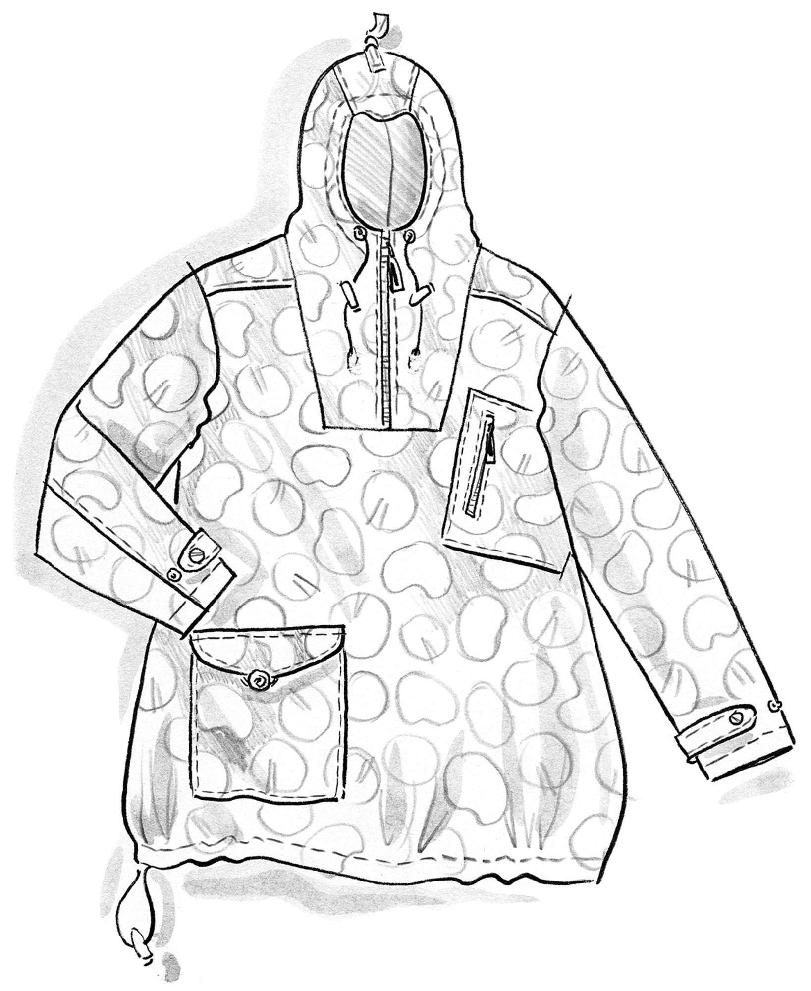 """Soil"" eco-cotton anorak"
