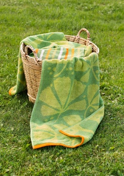 Kastanj towel apple green