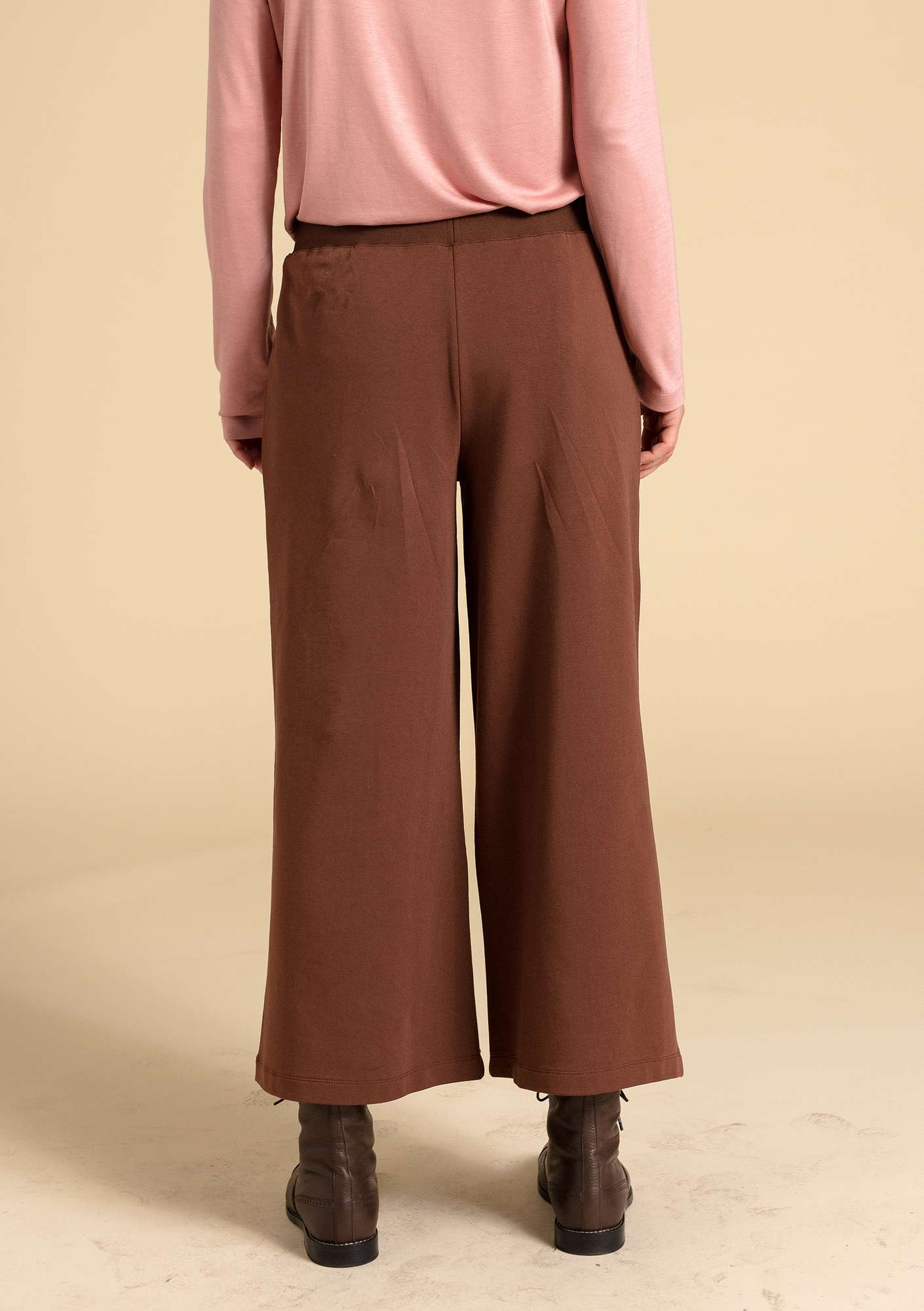 Pants in eco-cotton/modal/spandex chestnut