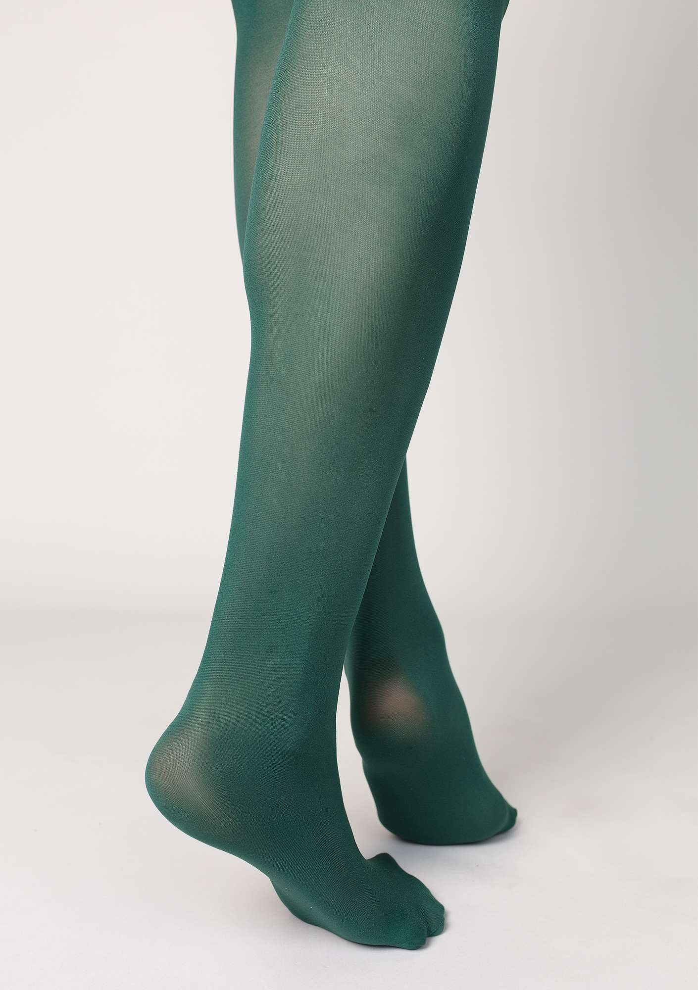 Tights in recycled nylon bottle green