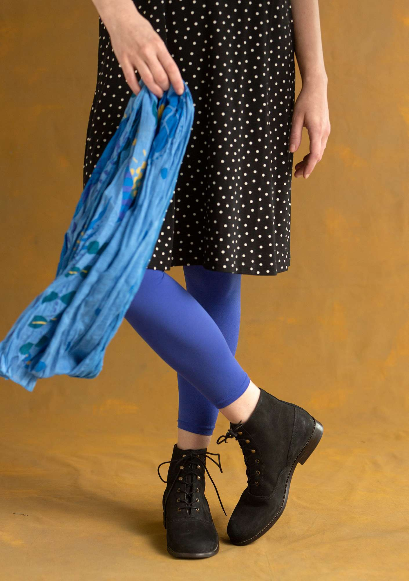 Ensfarvede leggings lupin