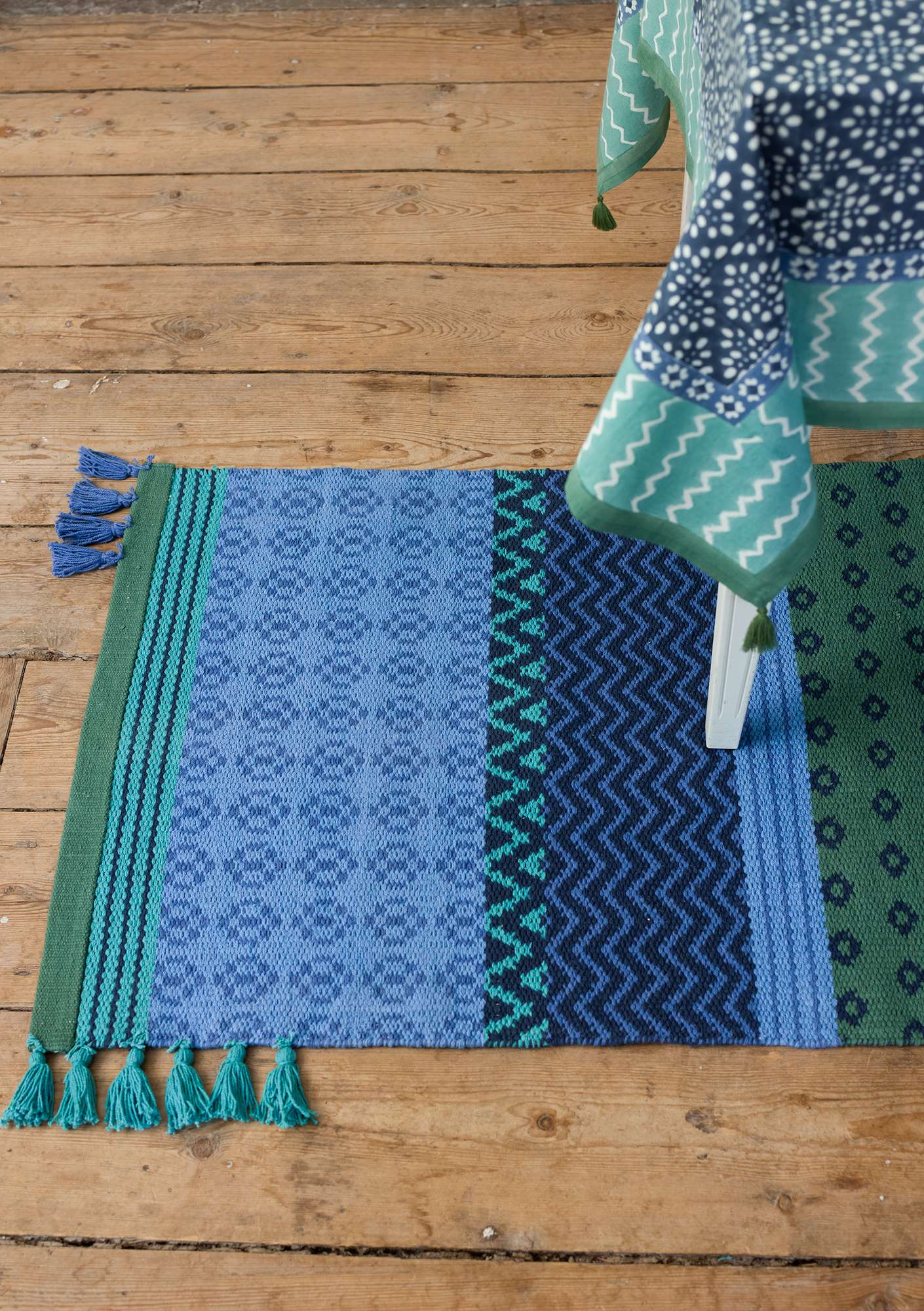 """Boda"" eco-cotton rug sky blue"