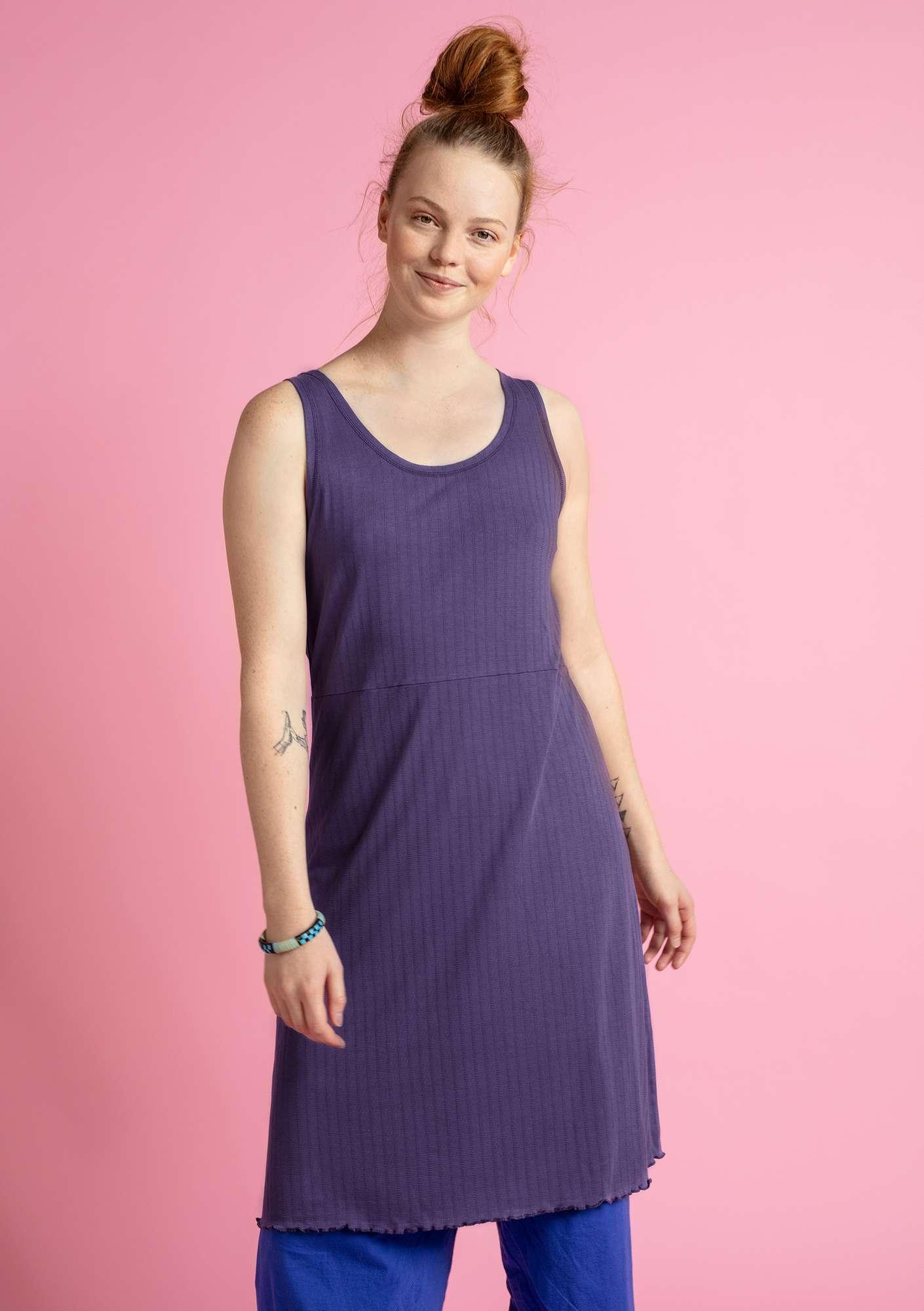 """Suckulent"" dress in micromodal/spandex gray purple"