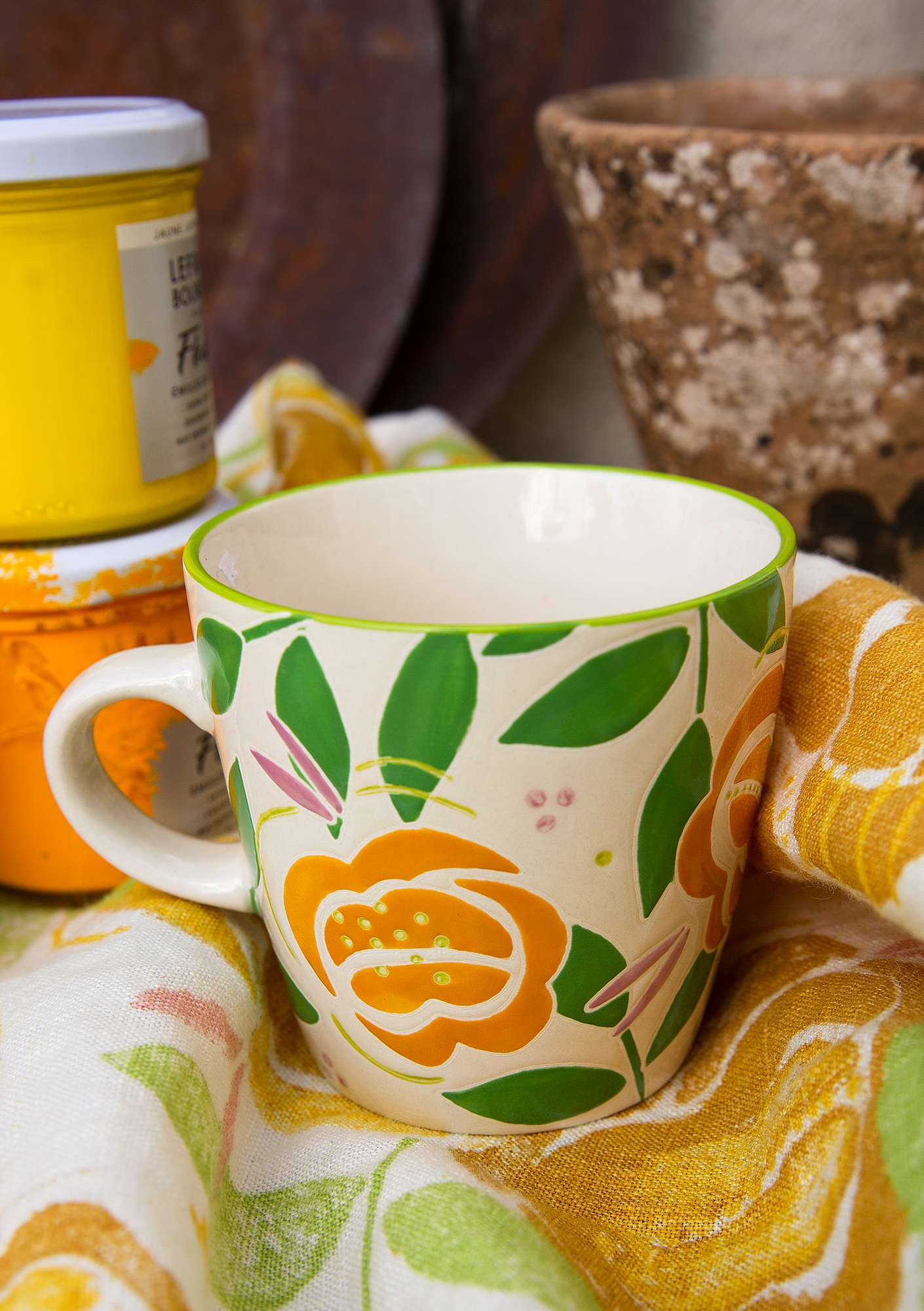 Tasse Roses light ochre