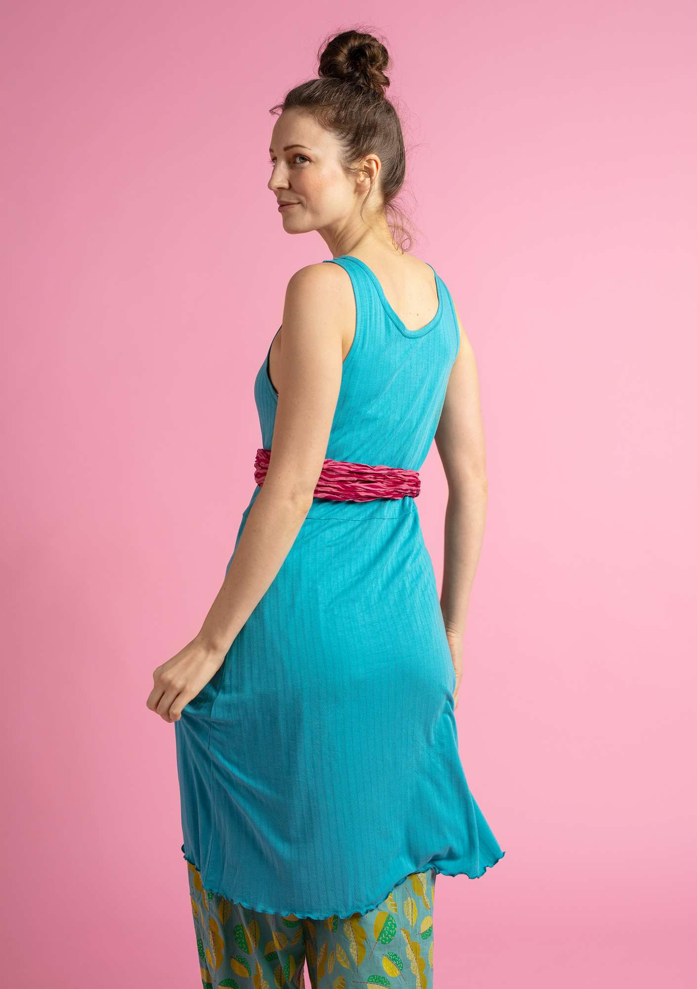"""Suckulent"" dress in micromodal/spandex turquoise"