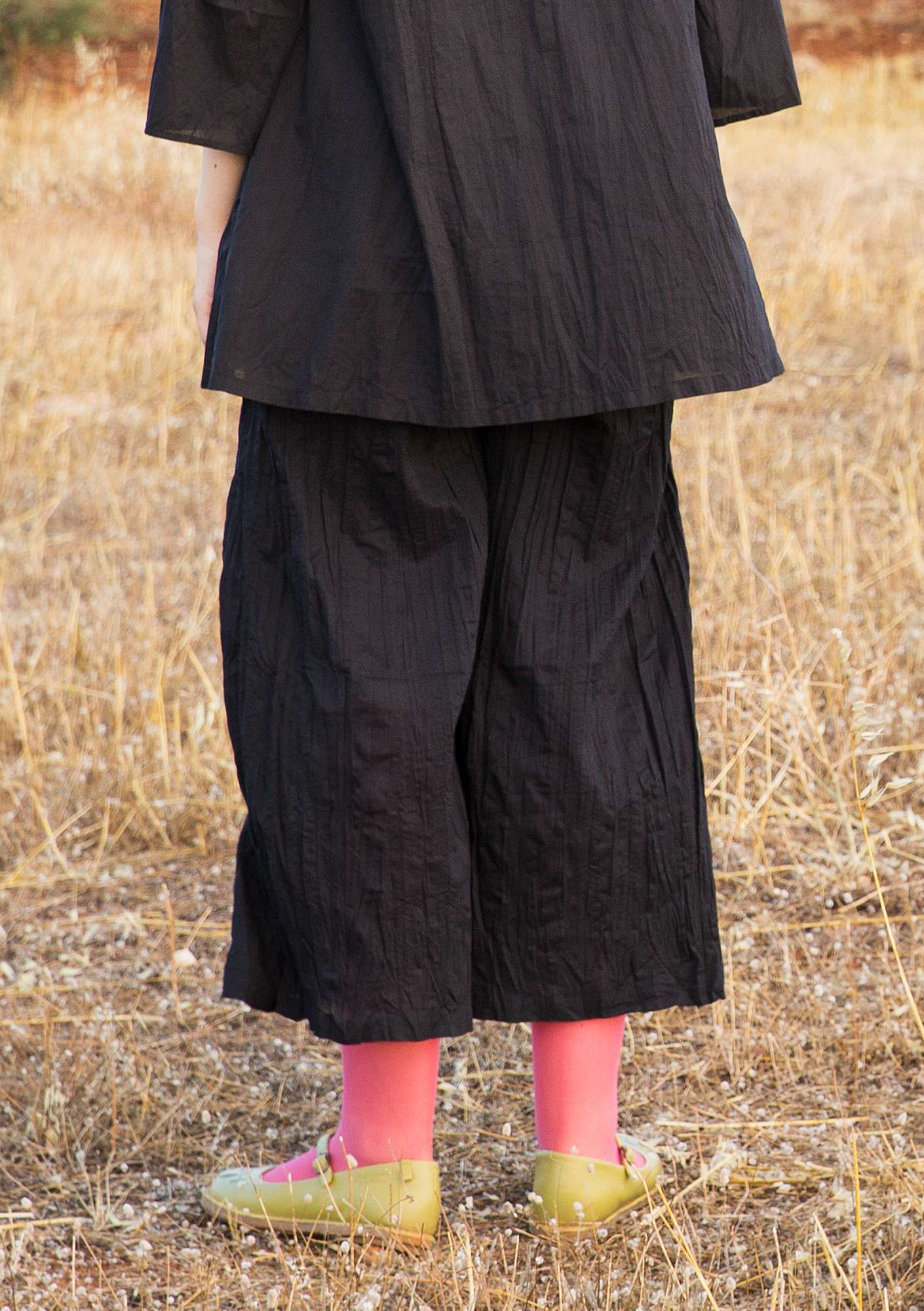 """Grekland"" trousers in organic cotton black"