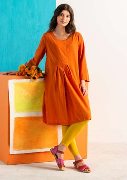 Rut dress burnt orange