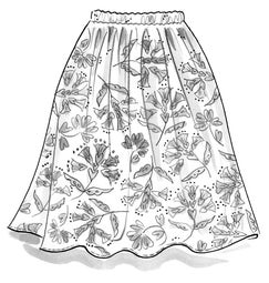 """Crocus"" organic cotton skirt"