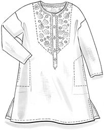 """Mirror"" woven tunic in organic cotton"