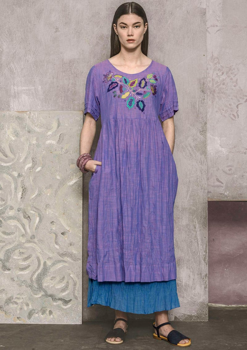 """Kamelia"" organic cotton dress hyacinth"