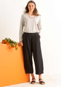 Pantalon en lin black