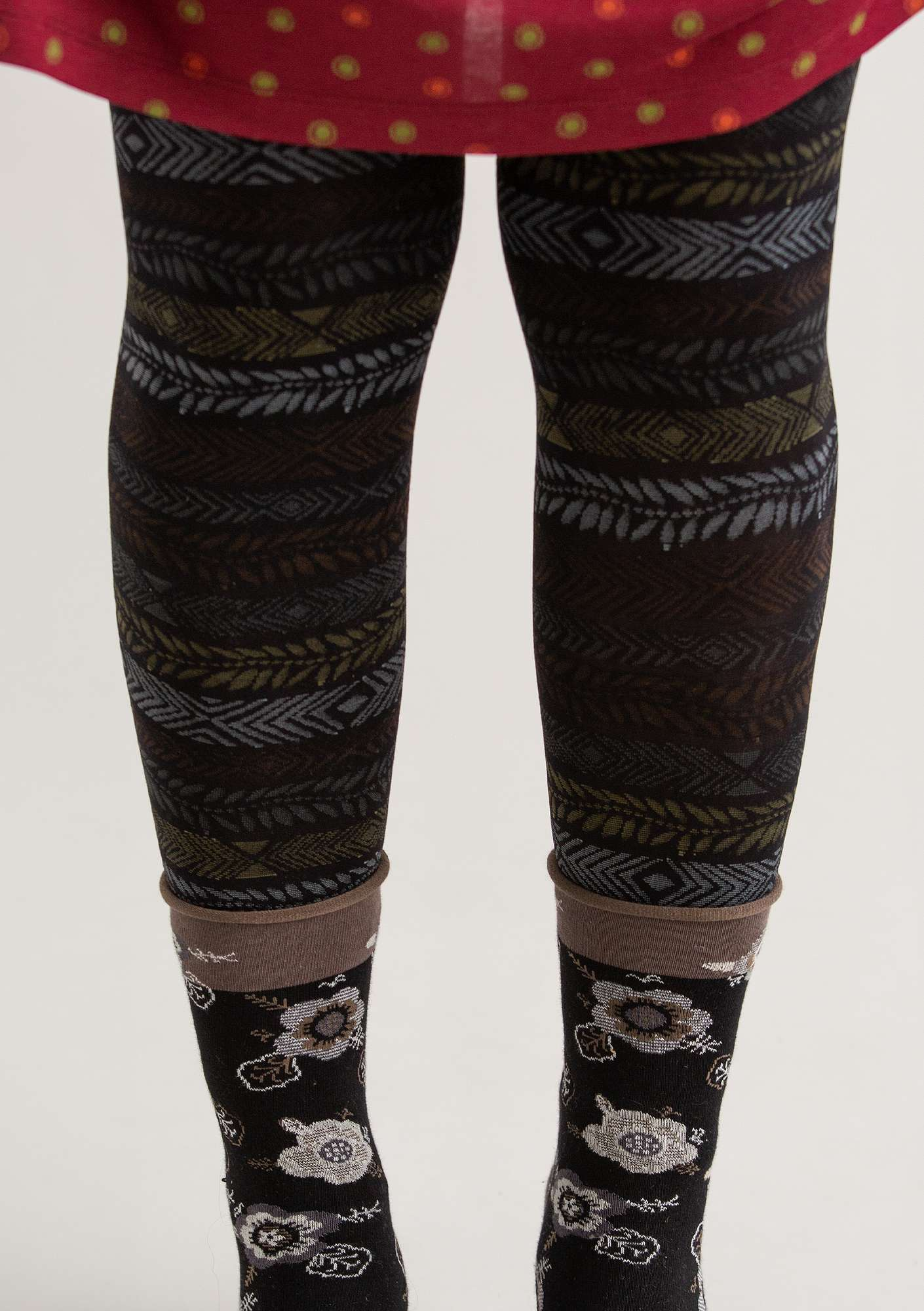 """Ylva"" leggings in recycled polyamide black"