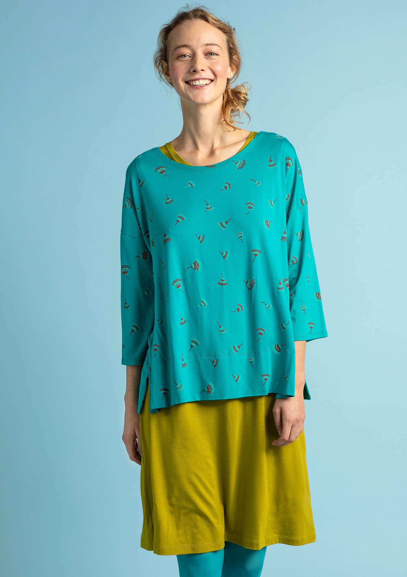 """Luisa"" top in micromodal/spandex oriental green"