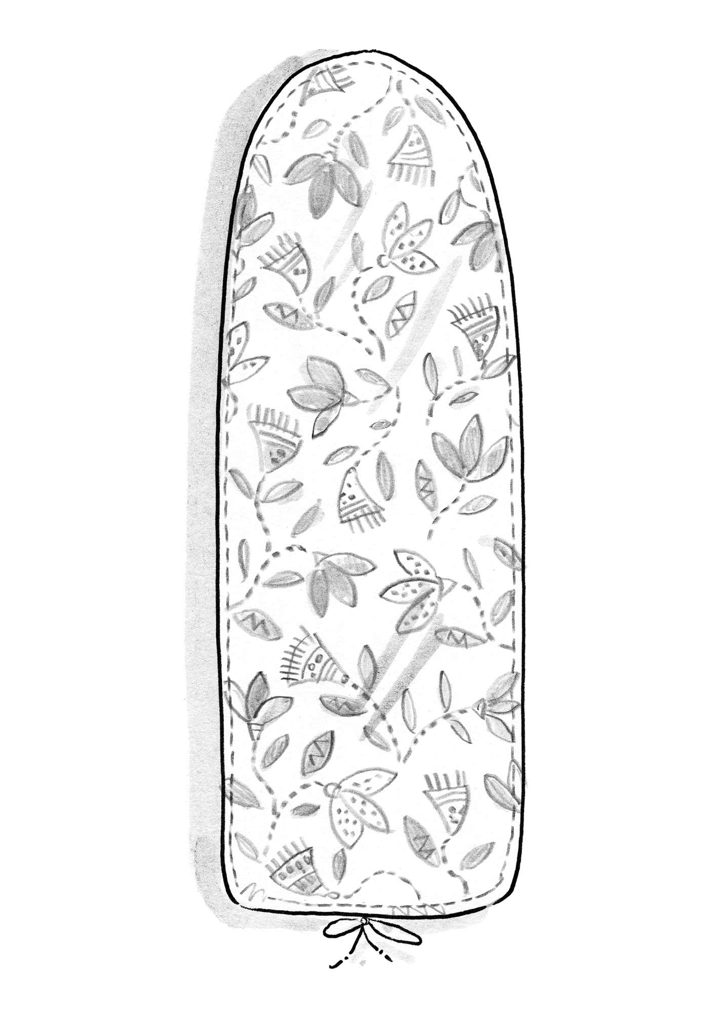 """Artemis"" eco-cotton ironing board cover wild strawberry"