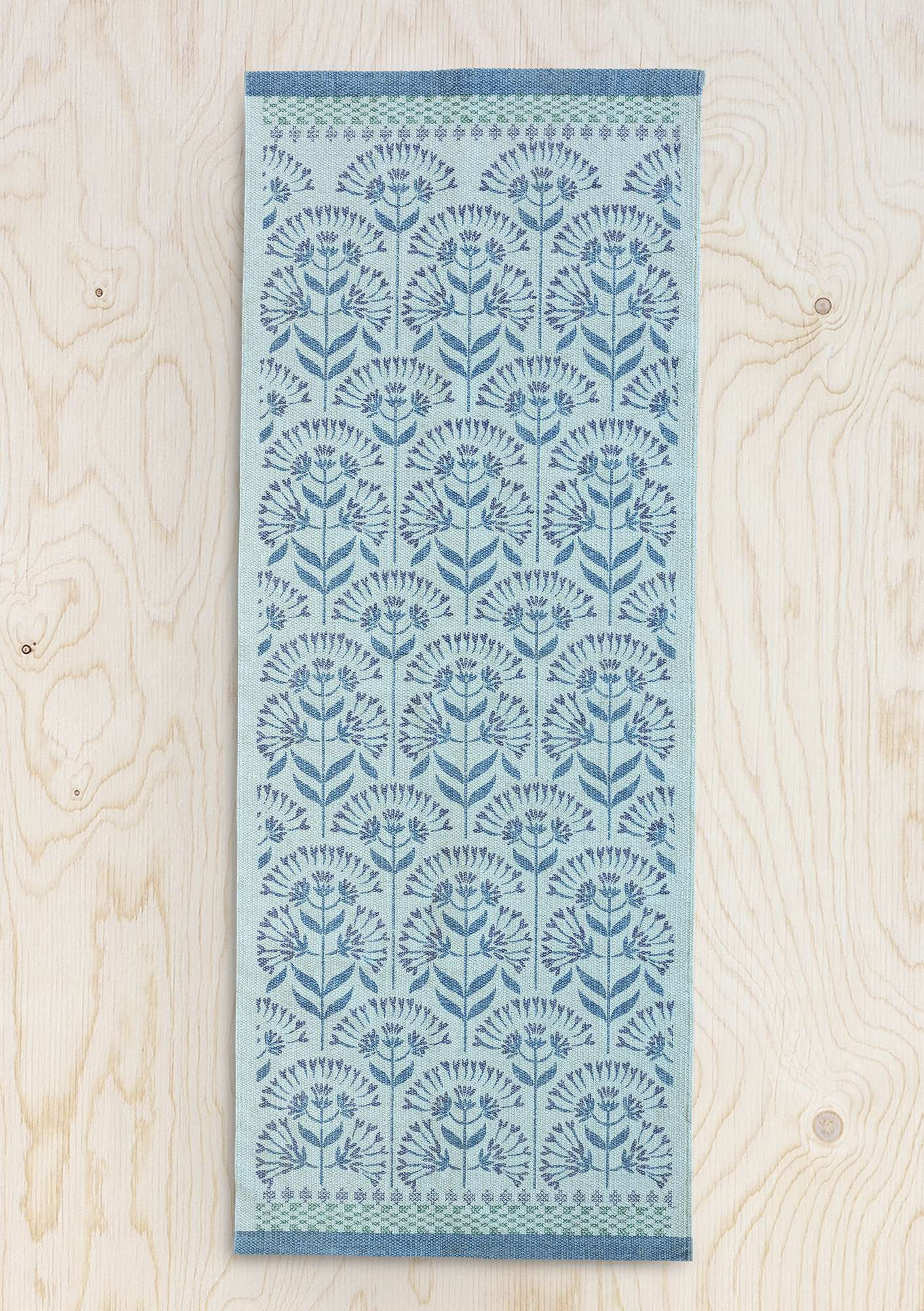 """Perenn"" cotton hallway runner wintergreen"