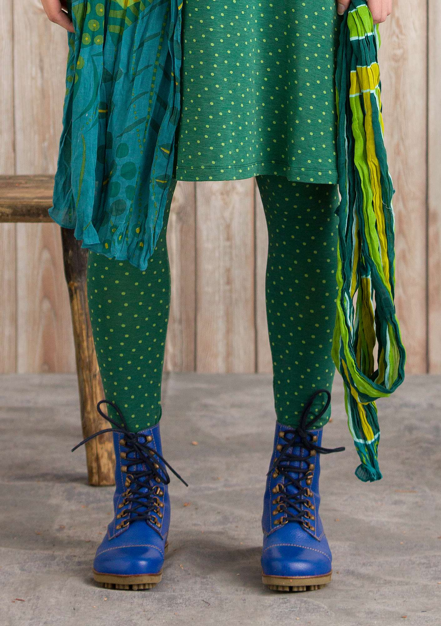 Leggings Pytte opal green/patterned