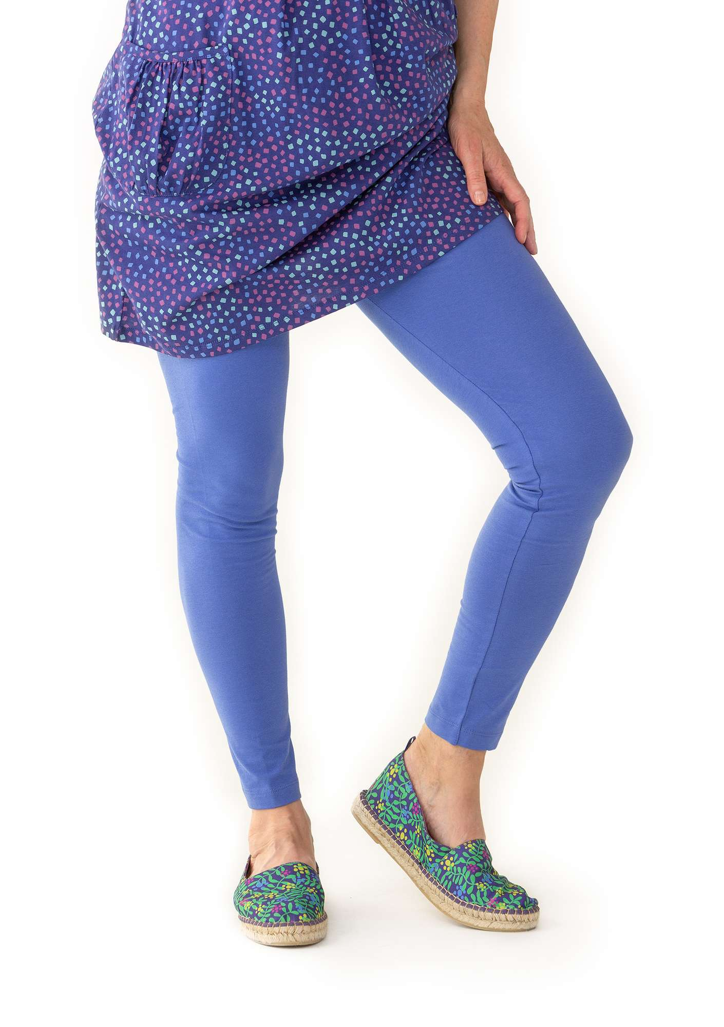 Leggings in organic cotton/spandex sky blue