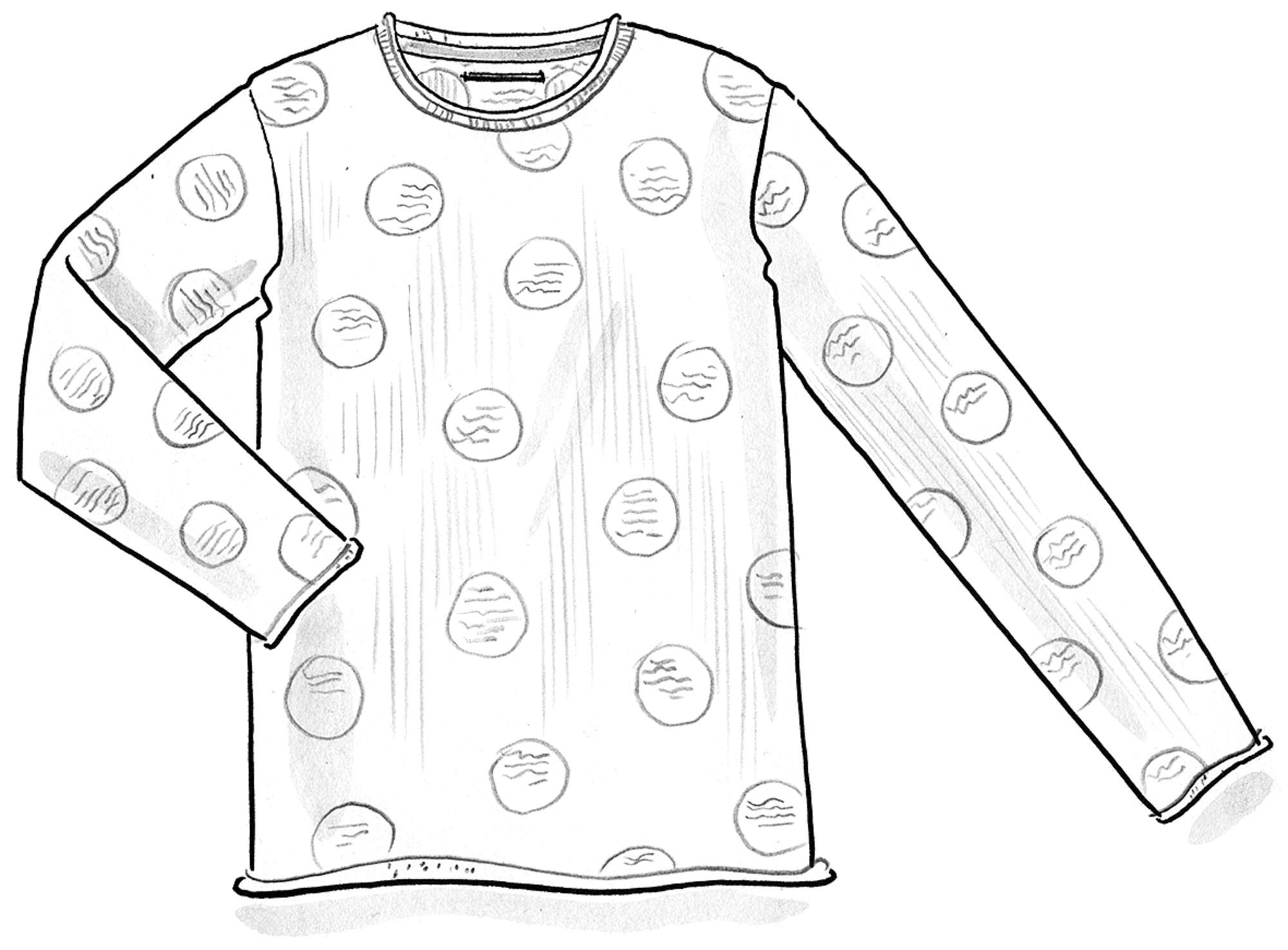 Dotted eco-cotton sweater