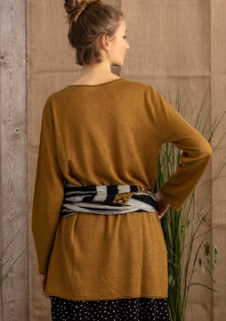 Linen knit fabric tunic curry
