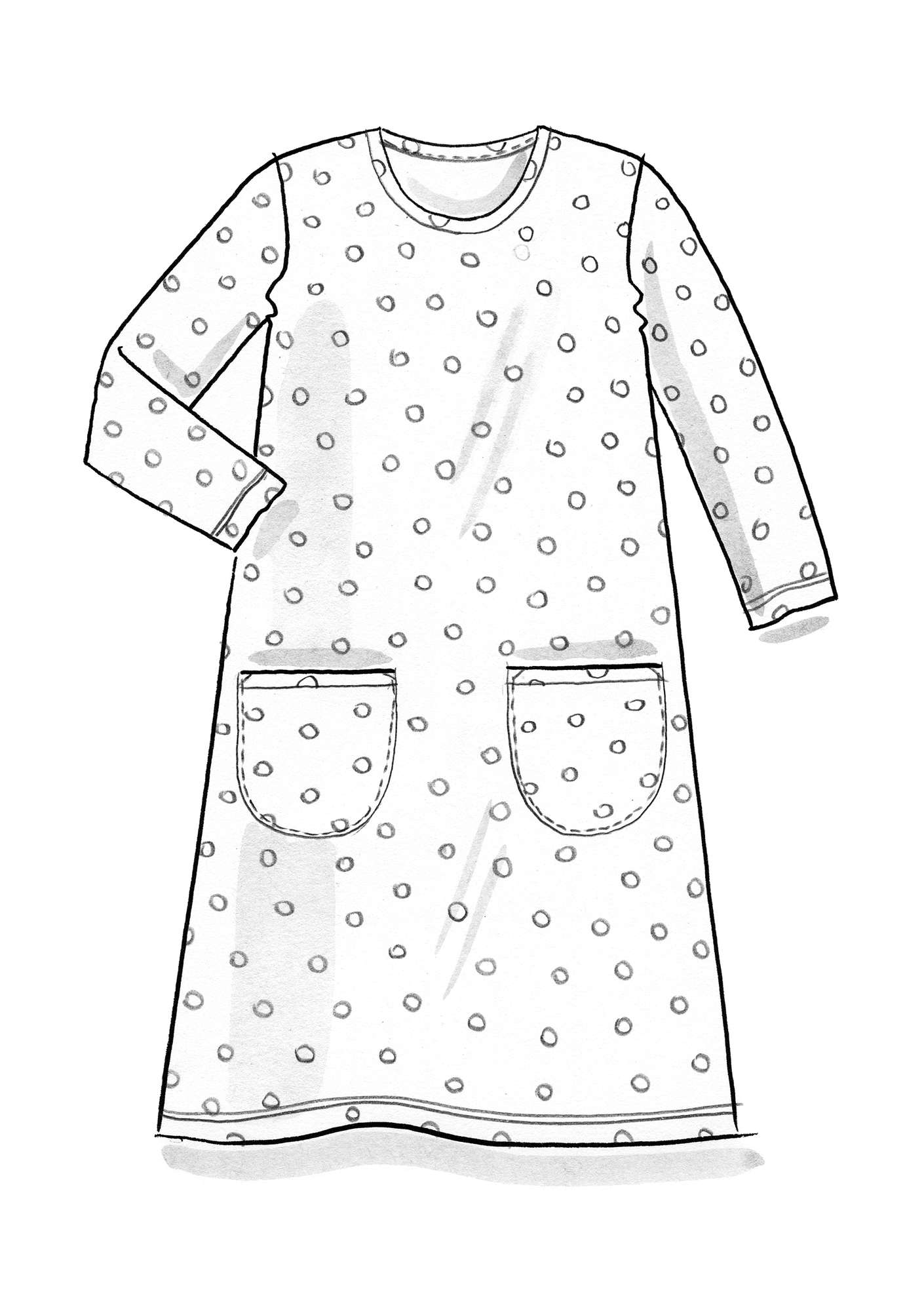 DOT dress in modal/eco-cotton/spandex turquoise/patterned