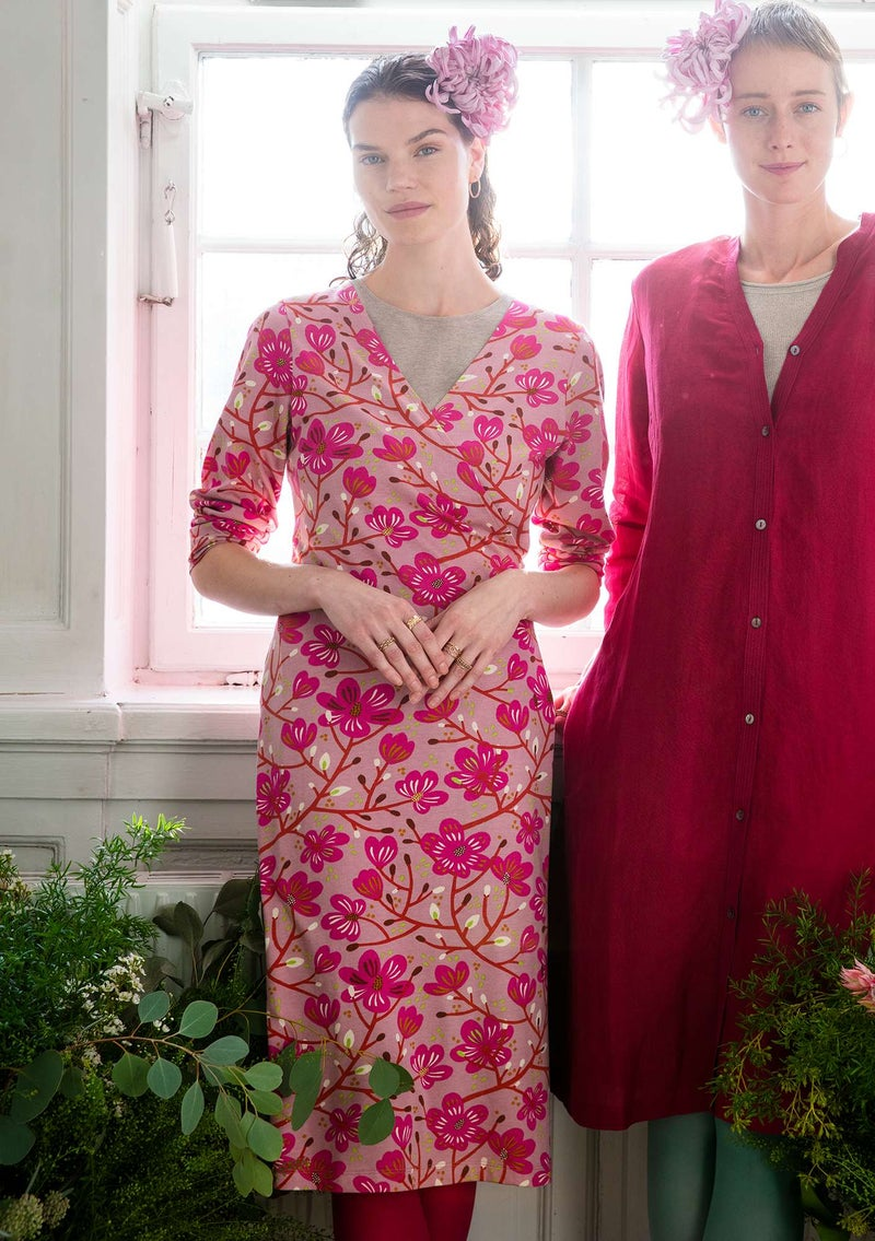 """Magnolia"" organic cotton/modal jersey dress cerise"