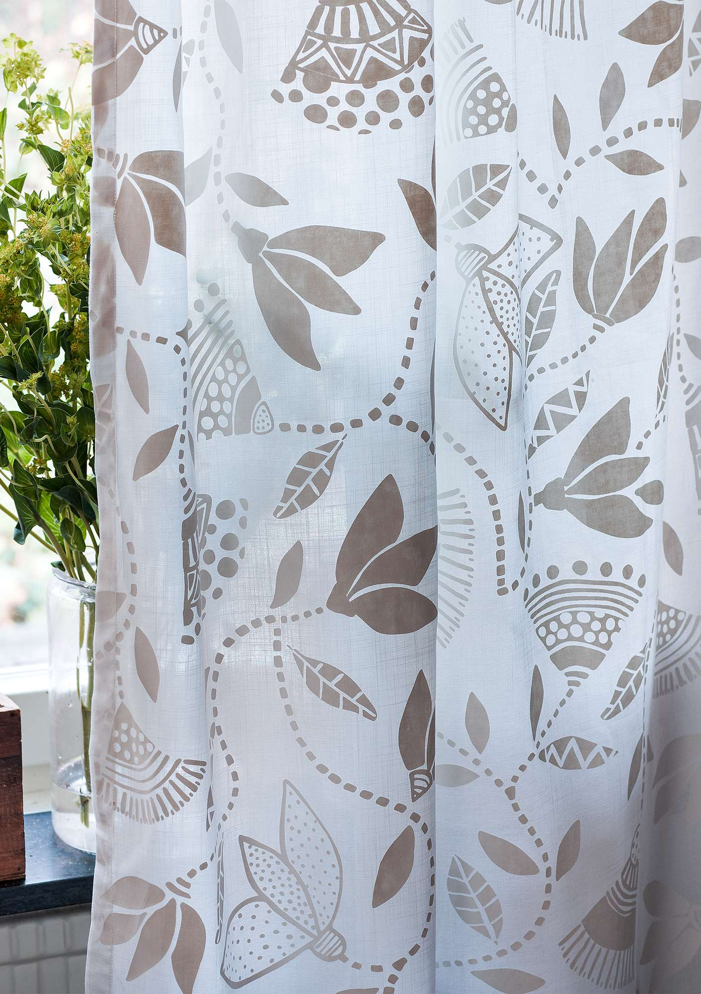 """Artemis"" cotton curtain semi-bleached"