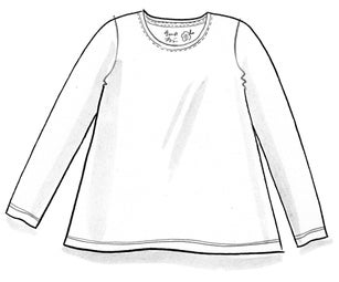 """Petite"" organic cotton/elastane top"