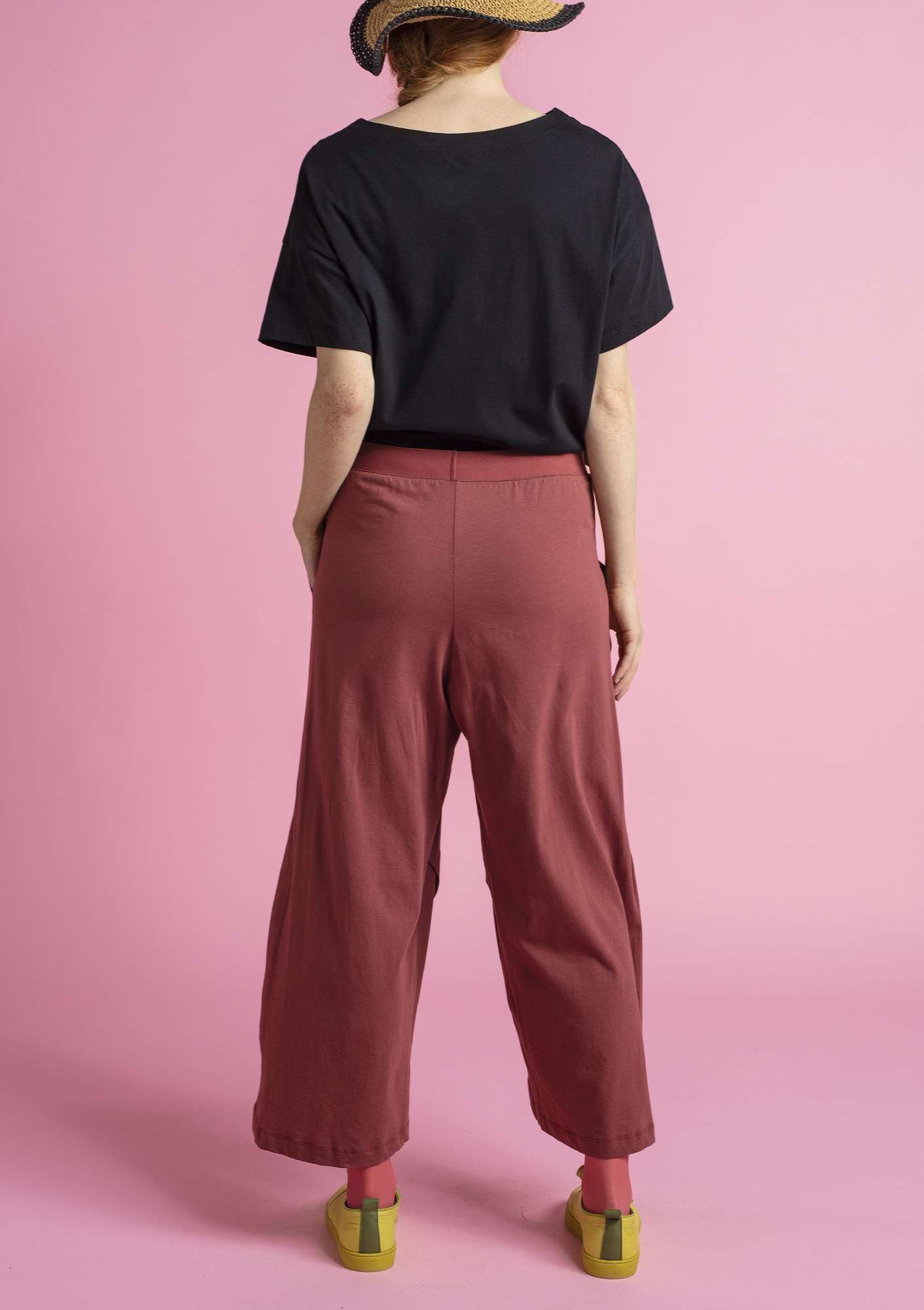 Jersey pants in eco-cotton gneiss