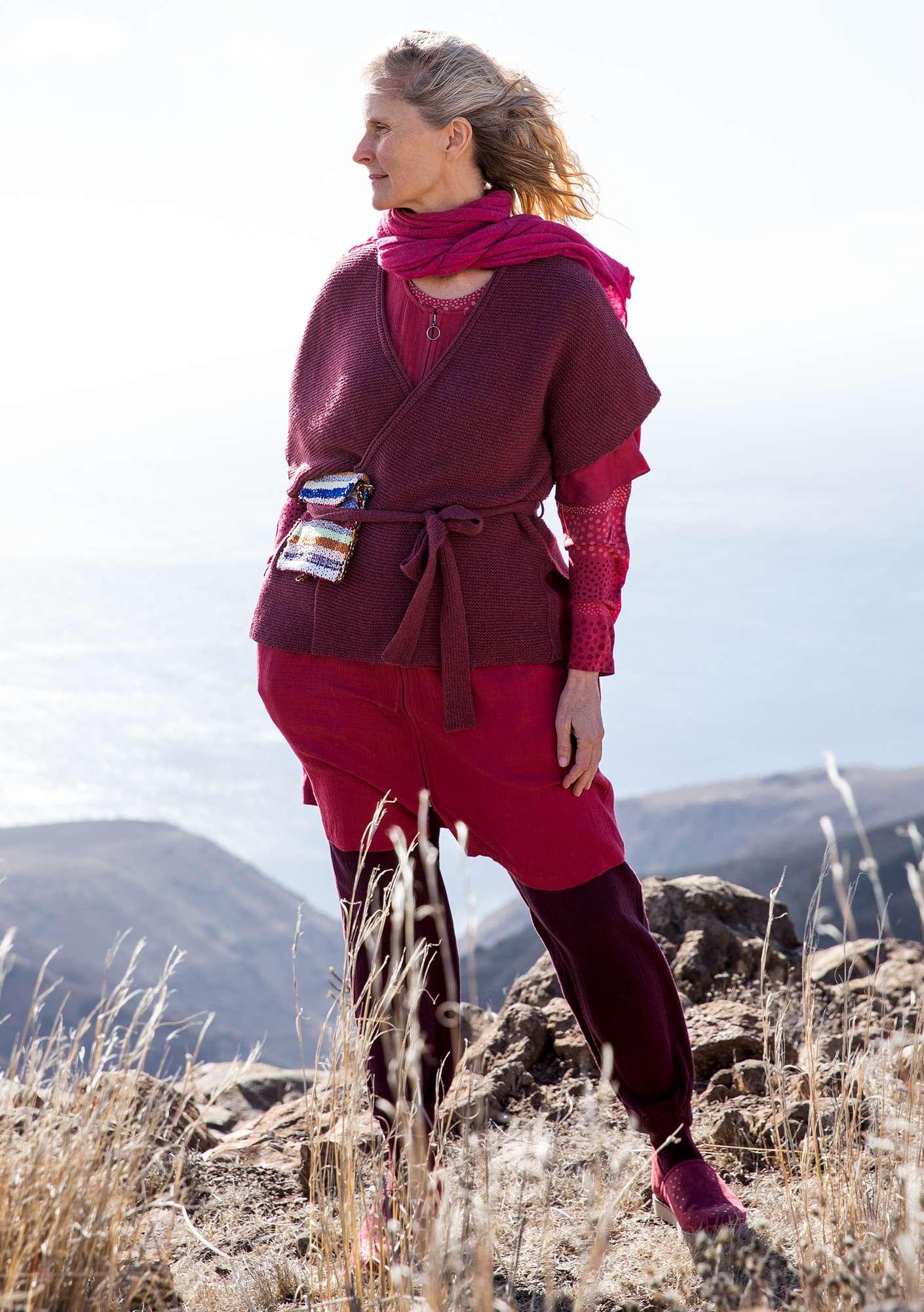 78f3547c0bb5 Wraparound cardigan in a recycled-wool blend | Gudrun Sjödén