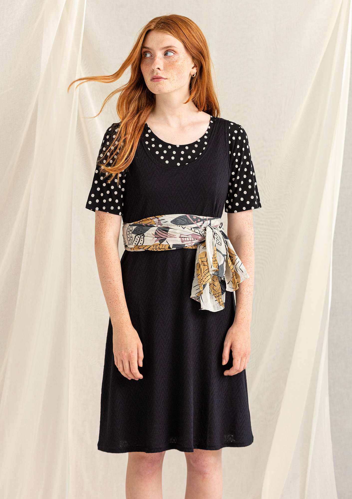 Pointelle-Kleid black