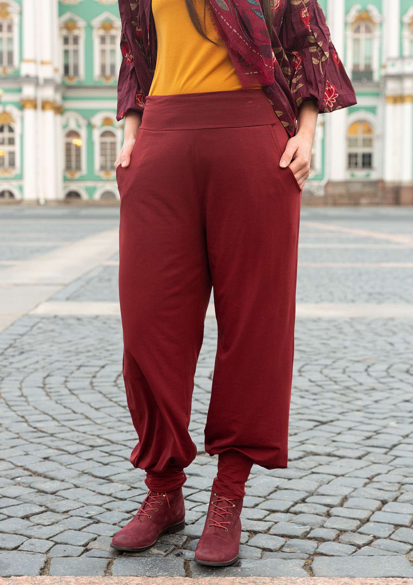 Pantalon Uni agate red