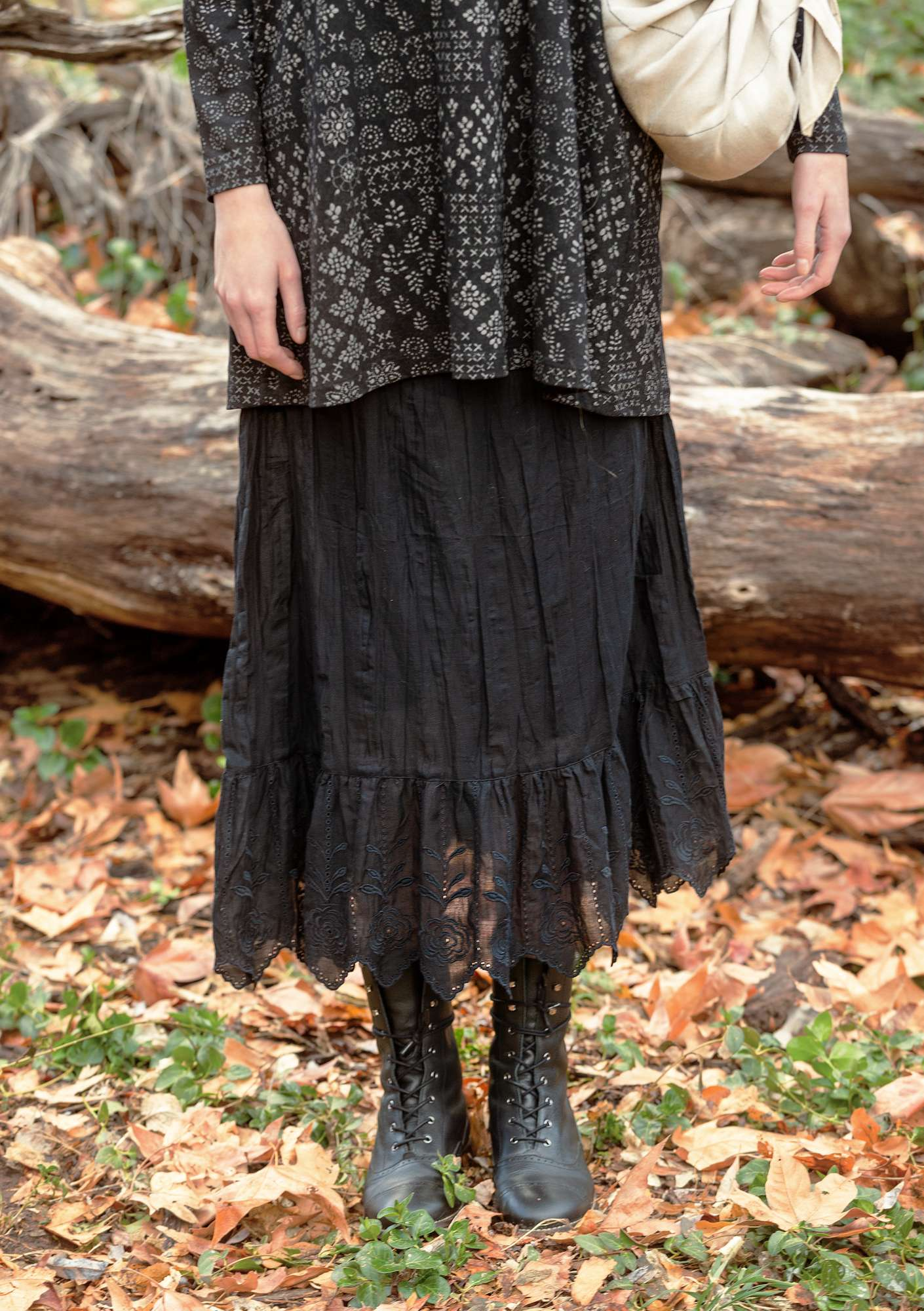 Petticoat in organic cotton black