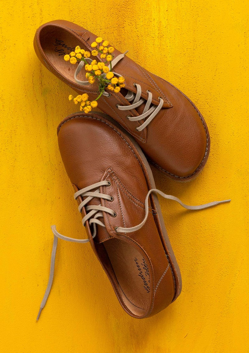 Nappa laceup shoes chestnut