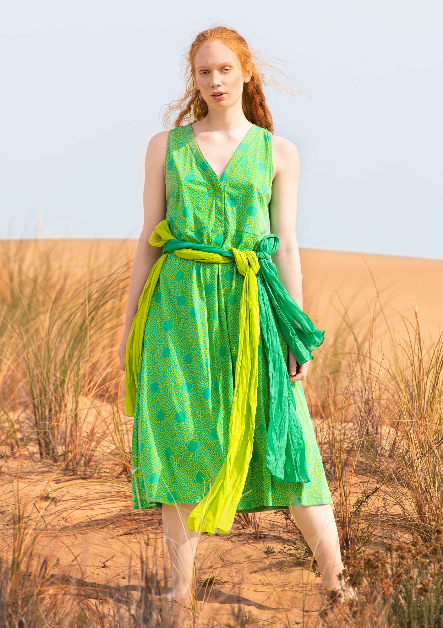 Jurk Acacia lotus green