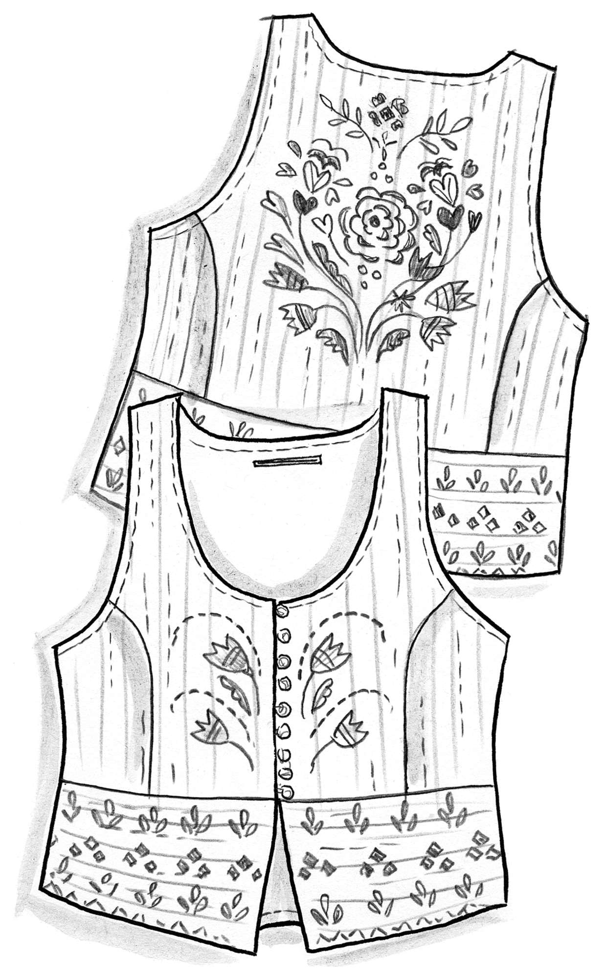 """Småland"" waistcoat in organic cotton"