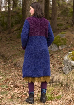 Bouclé coat midnight blue