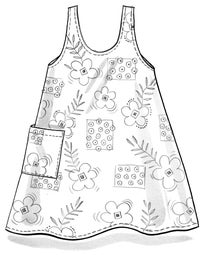 """Chamomile"" organic/recycled cotton apron"