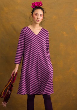 Striped dress heather/lake
