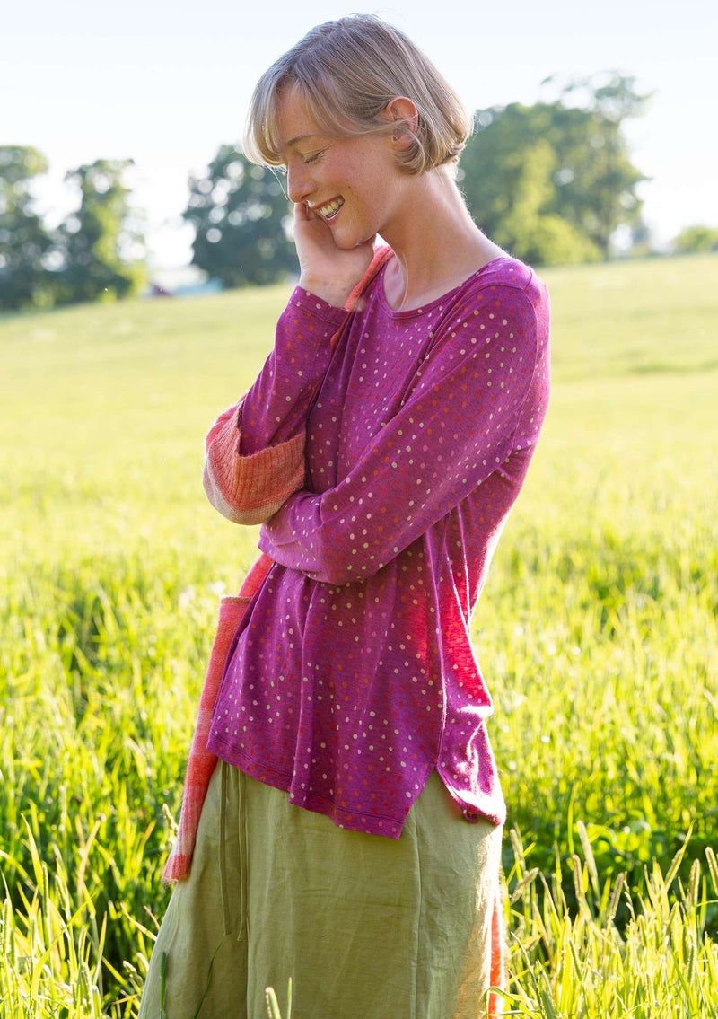 """Joy"" top in lyocell/wool pink orchid"