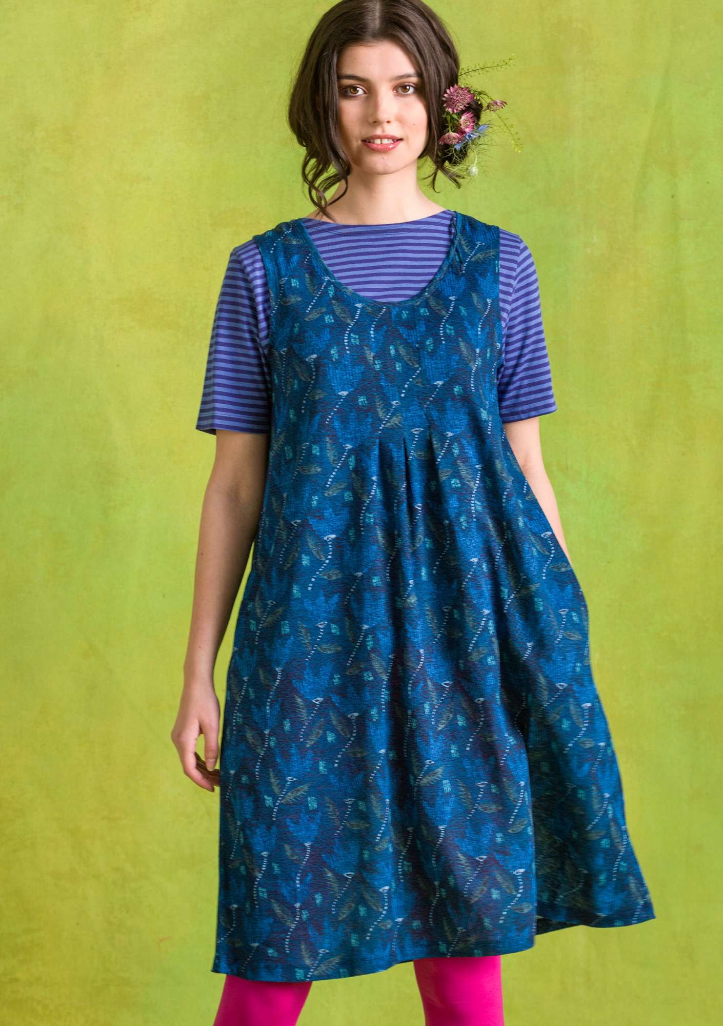 Tess dress indigo blue