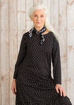 Pytte top black/patterned