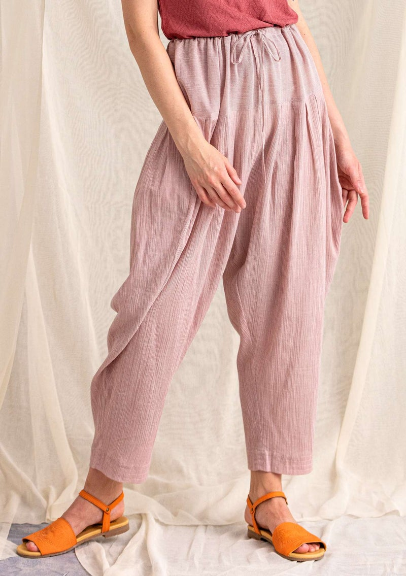 Striped organic cotton trousers fig