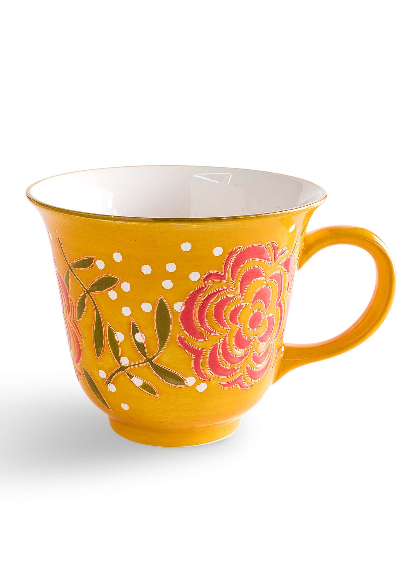"""Maya"" ceramic tea mug ochre"