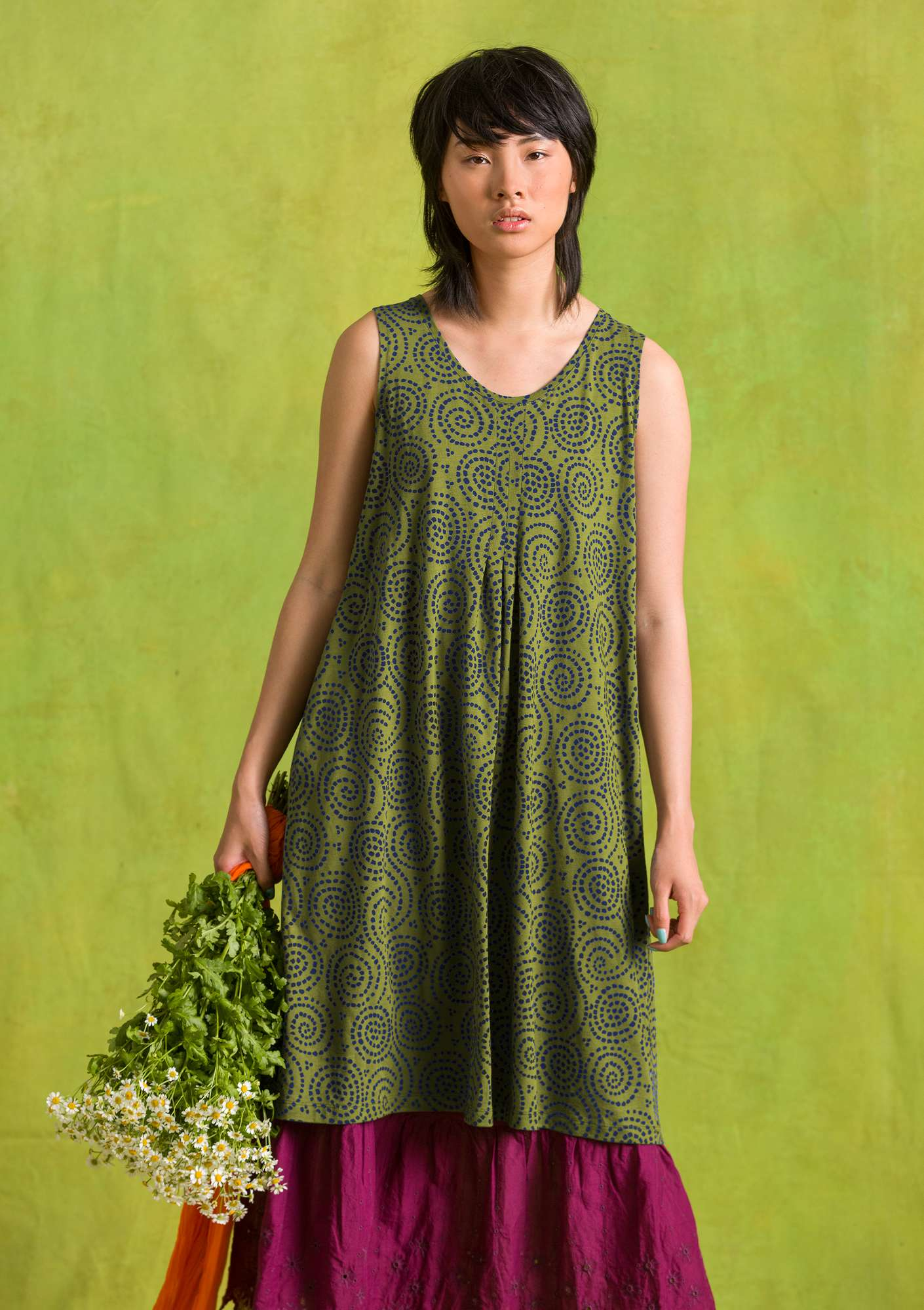 Kleid Vilse moss green