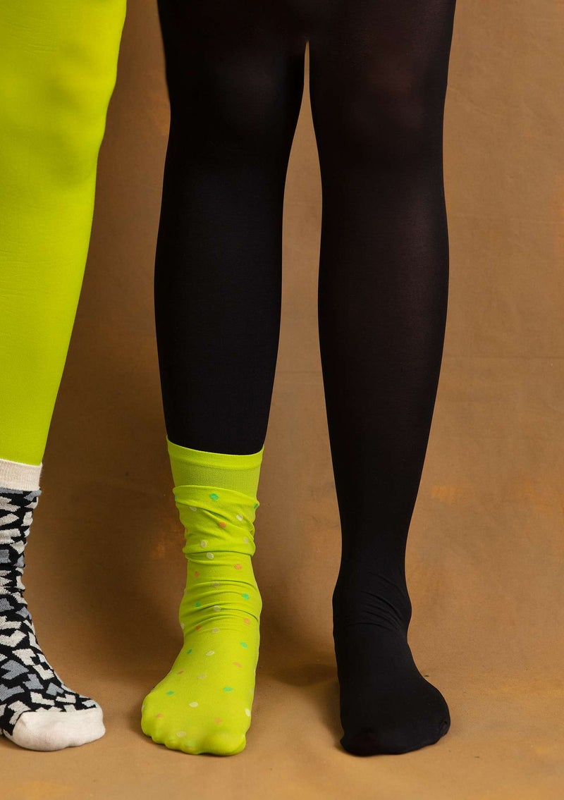 Tights in recycled nylon black