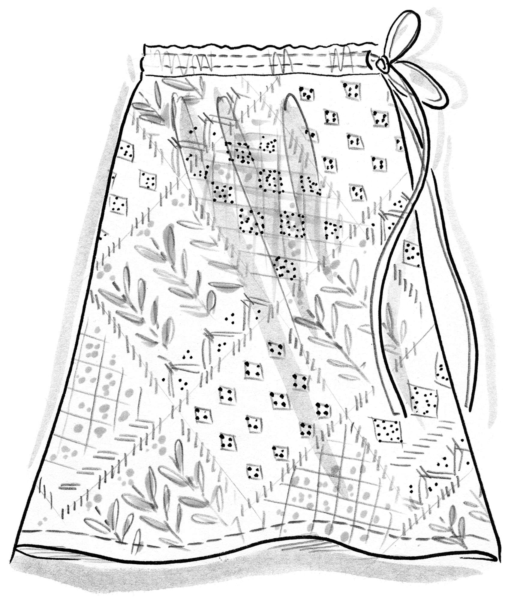 """Karolina"" skirt in eco-cotton"