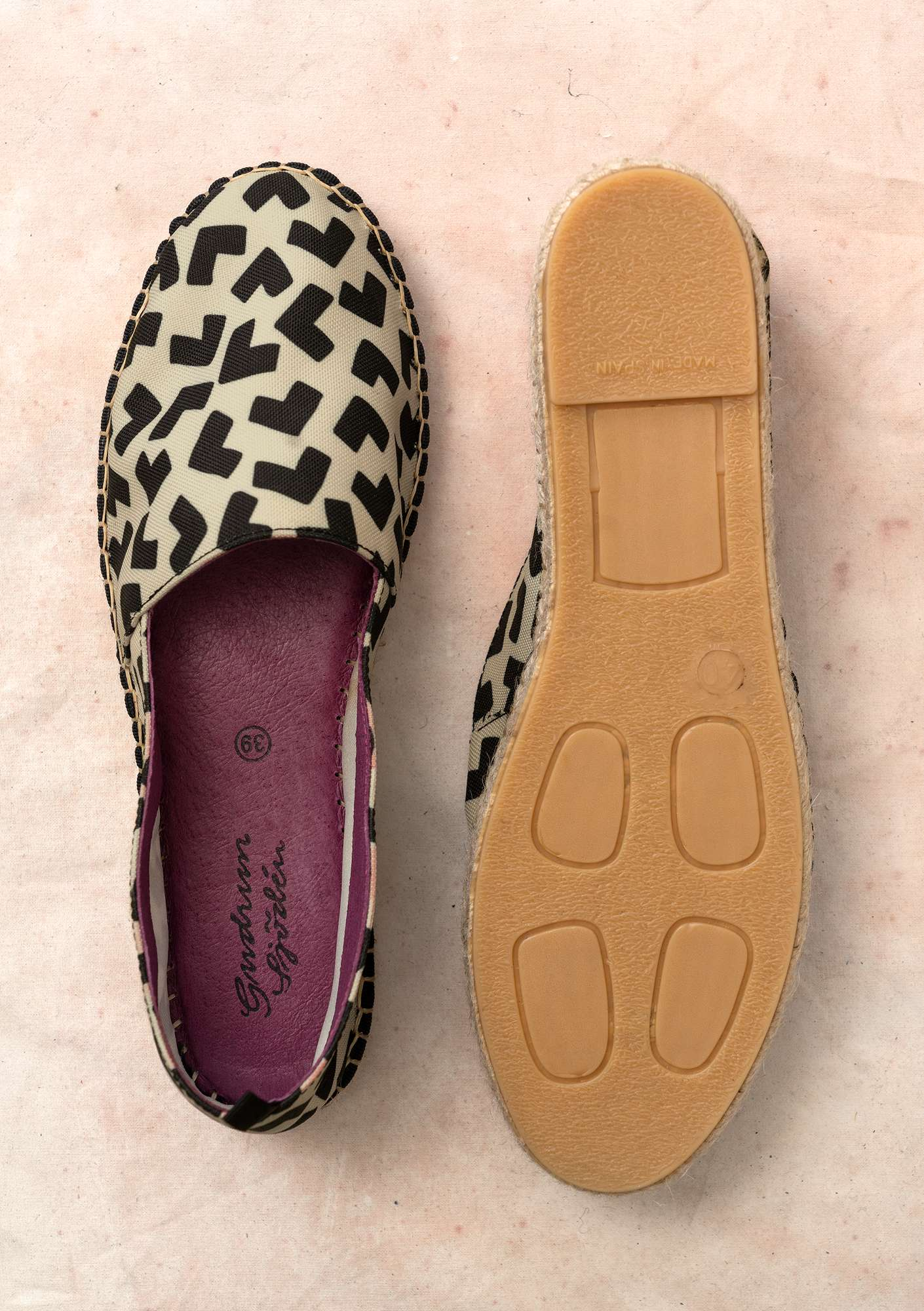 """Hake"" cotton espadrilles natural"